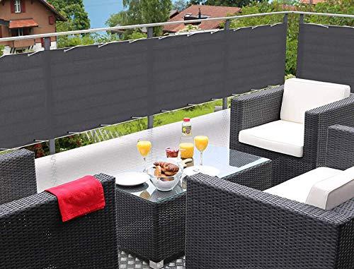 MODKOY Lonas Balcon 140x300cm Jardin Toldo Lateral, Protección Visual, Tela Resistente al...