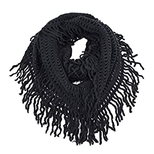 StylesILove Women Cozy Knit Tassel Infinity Loop Scarf – 7 Colors