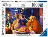 Ravensburger Puzzle, Puzzles 1000 Piezas, La Dama y el Vagabundo, Puzzle Disney, Puzzles para Adultos, Puzzle Ravensburger