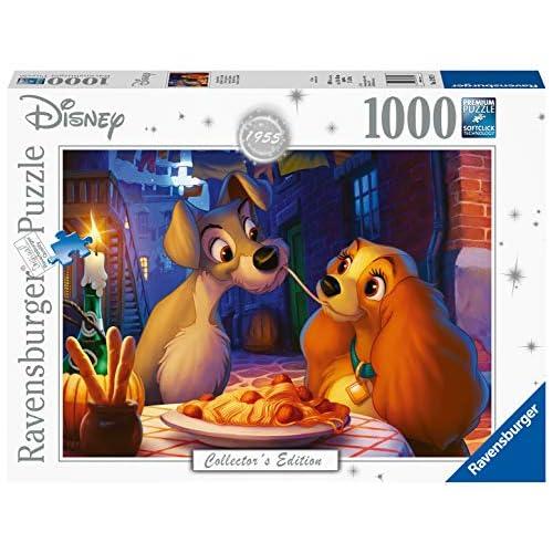 Ravensburger Puzzle, Puzzle 1000 Pezzi, Lilli e il Vagabondo, Puzzle per Adulti, Disney Collector's Edition, Puzzle Disney, Puzzle Ravensburger - Stampa di Alta Qualità