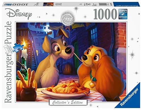 Ravensburger Puzzle 13972 - Disney Susi und Strolch - 1000 Teile Puzzle für Erwachsene und Kinder ab 14 Jahren, Disney Puzzle des bekannten Film-Klassikers