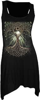 Spiral Womens - Oak Queen - Goth Bottom Camisole Dress Black