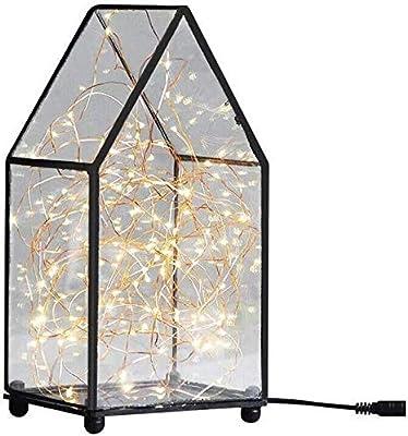 SET Lámpara de Mesa-Lámparas de Cama de Dormitorio de luz de Noche de Cristal de Madera Maciza lámparas Modernas románticas Minimalistas: Amazon.es: Hogar