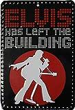 Flagline Elvis Parking Sign - Elvis Has Left The Building (Guitar) - 8 in x 12 in Metal Parking Sign