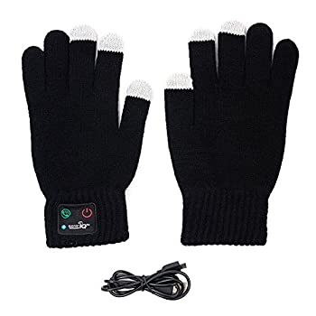 Bluetooth Gloves with Built In Mic and Speaker - Winter Smart Touch Gloves Women Men Acting Like a Phone Glove while Running Skiing Dog Walking