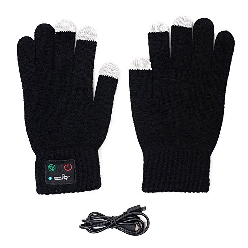 Bluetooth Gloves with Built In Mic and Speaker - Winter Smart Touch Gloves Women Men Acting Like a Phone Glove while Running, Skiing, Dog Walking