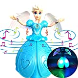 Singing Doll Princess Toys BONUS Wings, Dancing Doll Toy - Remote Control Free, Battery Operated Electronic Bump-N-Go Toy Projection Light Up Toy, Robots For Little Girls, Toddlers, Young Kids