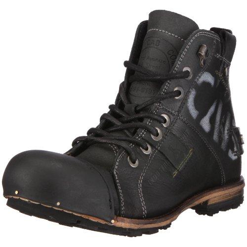 Yellow Cab Herren Industrial M Biker Boots, Schwarz (Black), 44 EU