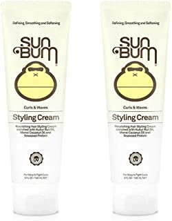 Sun Bum Curls and Waves Styling Cream For Curly Hair   Curl Defining Cream   Frizz Control   Paraben Free   Sulfate Free  ...