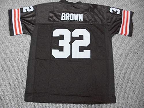 Unsigned Jim Brown #32 Cleveland Custom Stitched Brown Football Jersey Various Sizes New No Brands/Logos (S)
