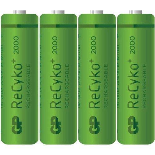 GP Batteries NiMH rechargeable batteries 2000AA Mignon 4stuks Retail–Batterie/wiederaufladbarer Akku (2000mAh, Nickel–Metal Hydride (NiMH), 1,2V)