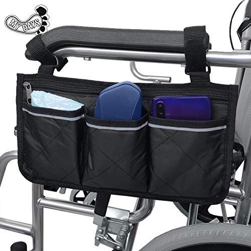 Bolsa lateral para silla de ruedas, paquete de ayuda para la movilidad, ideal para sillas de ruedas eléctricas,accesorios para caminar, bolsa de enfermera ligera y organizador para sillas médicas ✅