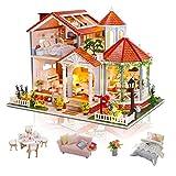 Casas de Munecas Madera en Miniaturas con Música y Muebles, Casas Miniaturas para Montar,...