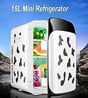 15Lカー冷蔵庫/牛デュアルコアカーミニ冷蔵庫、家庭用および車用デュアルユース(220V / 12V)/ピクニック、旅行、保管および保存