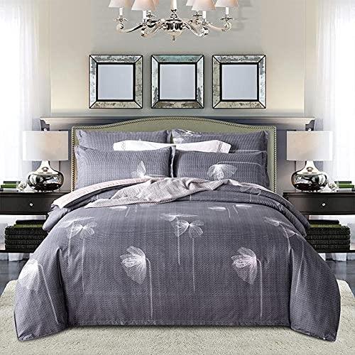 Sabana Funda de edredón 220x240 Funda de almohada 3pcs, cubierta de colcha, cubierta de cama grande conjuntos de cama conjuntos de cama, hojas de cama rosa Resistente a la suciedad y al polvo.