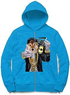 Fox Republic 柴犬 ラッパー ヒップホップ いぬ 犬 キッズ ジッパー パーカー スウェット トレーナー