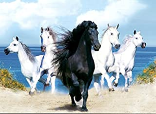 Those Flipping Pictures Horses UNFRAMED Holographic Wall Art-Posters That FLIP and Change Images-Lenticular Technology Artwork-Multiple Pictures in ONE-Hologram Images Change-Technology