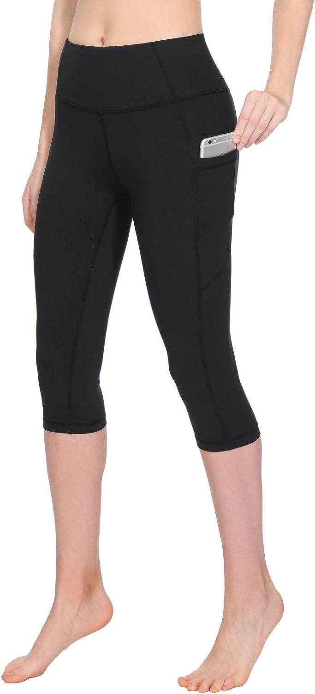 TAIBID Women's High Ranking Lowest price challenge TOP4 Waist Crop Yoga Pockets Capri Pants Side Tum