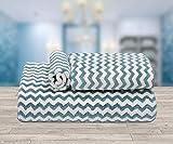 Ravsons Luxury Microfiber Towels, Set of 3, Super Absorbent, Ultra-Soft, Fade Resistant (Blue)