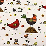 MAGAM-Stoffe Lotte bunter Hühner Baumwollstoff Kinder