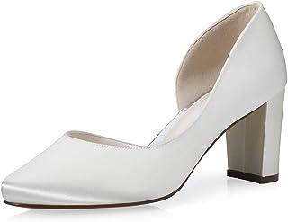 Rainbow Club Chaussures de mariée Jaylin - Escarpins en satin pour femme