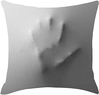 Lfff Decoraciones Helloween Fundas de Almohada, Thriller Horror Shadow Face Dentro de tu Almohada Fundas de Almohada Cortas de Felpa