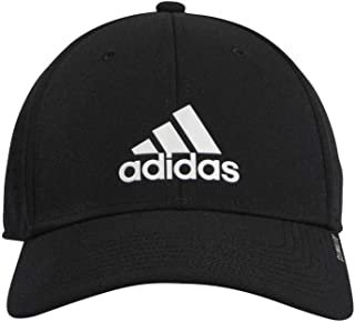 239d69f9 adidas Men's Gameday Stretch Fit Structured Cap, Black/White, Large/X-