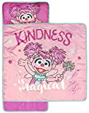 Sesame Street Kindness Is Magic Nap Mat - Built-in Pillow and Blanket Featuring Abby Cadabby - Super Soft Microfiber Kids'/Toddler/Children's Bedding, Ages 3-5 (Official Sesame Street Product)