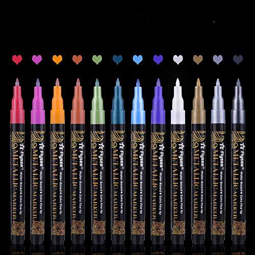 Keramik 10 Stü Schwarze Dauerhafte Acrylfarbe Marker Stifte Für Glas Metall