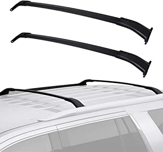 LED Kingdomus Cross Bars Roof Racks Compatible for 2015-2018 GMC Yukon/Chevrolet Tahoe/Chevrolet Suburban/Cadillac Escalade, Aluminum Roof Top Crossbars Cargo Carrier Luggage Rack Set