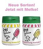 petGelato Eismischung - FrostyBerry & HappyApple - mit Molke - 2X 44g - Hundeeis/Katzeneis/Pferdeeis