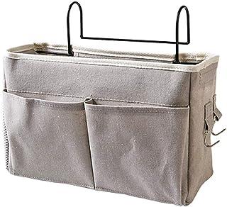 jinetor Bedside Caddy Hanging Storage Bag Organizer Dorm Room Phone Book Magazine Holder Gray