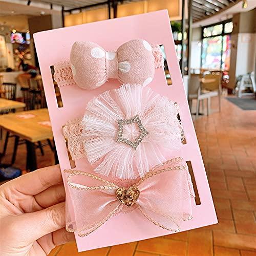 YINGBBH Banda para el Cabello 3 unids/Set Baby Headband Princess Lace Crown Arcos Niños Recién Nacido Banda para el Cabello DIEADAS para Muchachas Flor Turban BEBY Pelo Accesorios (Color : 6 5)
