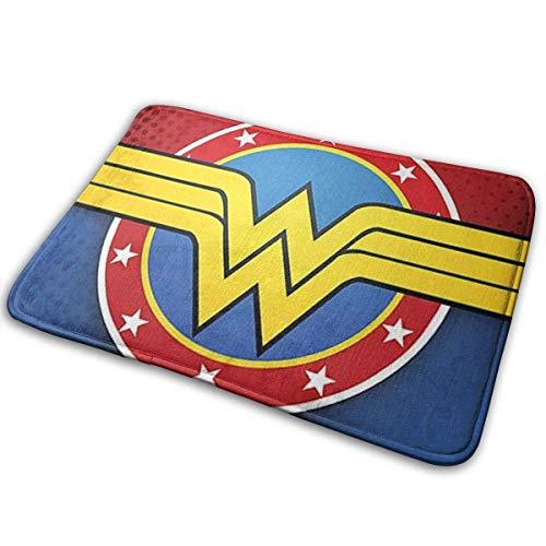 Felpudo, felpudo de bienvenida Wonder Woman 39,9 x 59,6 cm, antideslizante, cocina, baño, entrada de mascotas