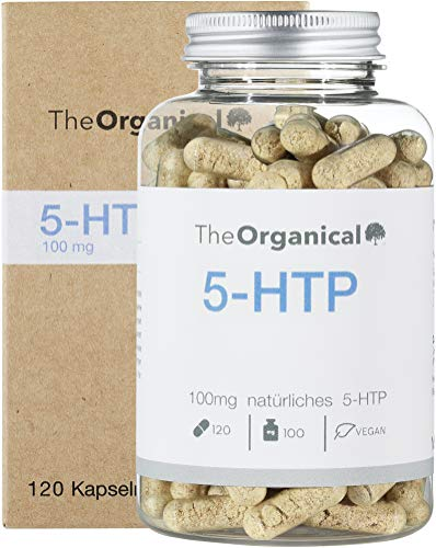 Original TheOrganical® 5HTP | 120 Kapseln mit 100mg natürlichem 5 HTP | Hergestellt in Hamburg