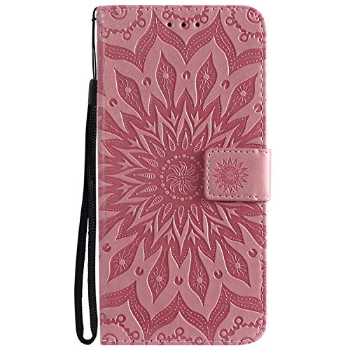Hülle für LG V50 ThinQ 5G Hülle Handyhülle [Standfunktion] [Kartenfach] [Magnetverschluss] Schutzhülle lederhülle flip case für LG V50 / V500 - DEKT031811 Rosa