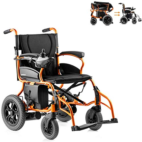 Erik Xian Power Wheelchair Wheelchair Electric Wheelchair Folding Portable Ultra Light Old Intelligent Automatic Folding Powerchair Lithium Battery gh,Comfortable and Safe Travel