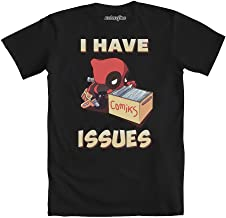 Mighty Fine Deadpool I Have Issues Men's Black Shirt