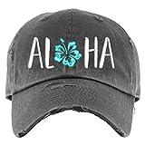 Aloha Hat | Distressed Baseball Cap OR Ponytail Hat | Hawaiian Vacation Hat