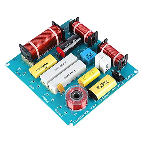 WEAH-3505 300W Altavoz Divisor de frecuencia de audio 3 vías Crossover Filtros con graves agudos ajustables