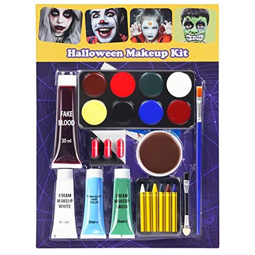 EastPin Halloween Makeup, Halloween Makeup Kit, Zombie Makeup, Vampire Makeup, Halloween Face Paint Clown Makeup Special Effects Makeup for Kids for Halloween Carnival