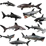 Juguetes de baño de tiburones, animales marinos, adecuados para juguetes de playa en baños, piscinas