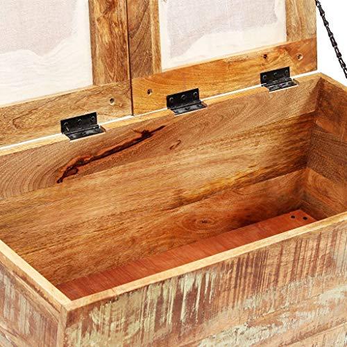 vidaXL Sitzbank mit Stauraum Recyclingholz Massiv Sitztruhe Truhe Hocker Bank - 6