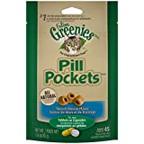 Greenies Feline Pill Pockets Natural Cat Treats Tuna & Cheese Flavor, 1.6 oz. Pouch (45 Treats)