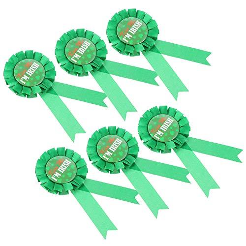 PRETYZOOM 6pcs St Patricks Day Brooch Pin Shamrock Badges Irish Lucky Lapel Pin for St Patricks Day Costume Accessory