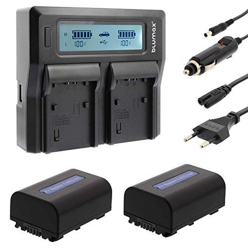 Dual Ladegerät + 2 Akku für SONY NP-FV50 FV-50 NP-FV30 NP-FV70 NP-FV100 DCR-SR21E, HC48, HDR-PJ580VE, PJ650VE, PJ740VE, PJ780VE, HDR-PJ810E, HDR-PJ320E, HDR-PJ330E, PJ420VE, PJ50VE, HDR-PJ530E, HDR-CX210L CX210R CX210S CX250E, CX370, CX360, HDR-CX220E, CX250E, HDR-CX260VE, CX280E, HDR-CX305E, HDR-CX200E, HDR-CX210, HDR-CX210B, HDR-CX210E