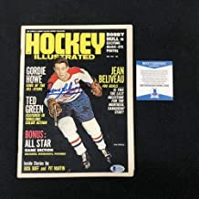 Jean Beliveau Autographed Signed Montreal Canadiens Hockey Illustrated Magazine Beckett Coa
