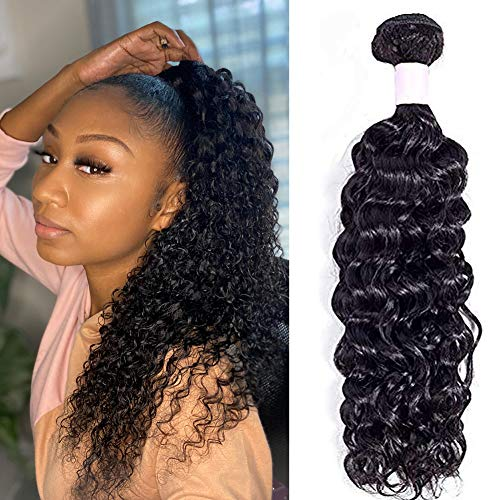 Brazilian Kinky Curly Hair 1 Bundles 14inch 100% Unprocessed Brazilian Virgin Curly Hair Bundles Natural Black Curly Weave Human Hair Bundles(14 Inch)