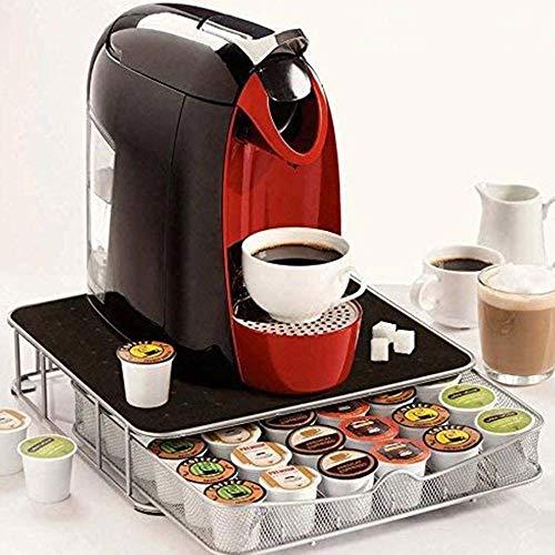 BAKAJI Contenitore Porta Capsule Cialde caffè Metallo 30-60 Posti Coffee Capsule Drawer, cassetto per la conservazione di Capsule e Cialde caffè