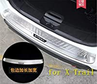 ステンレス鋼リアバンパープロテクターシルトランクリアガードトレッドプレートペダル日産エクストレイル X トレイル T32 2017-2019-2